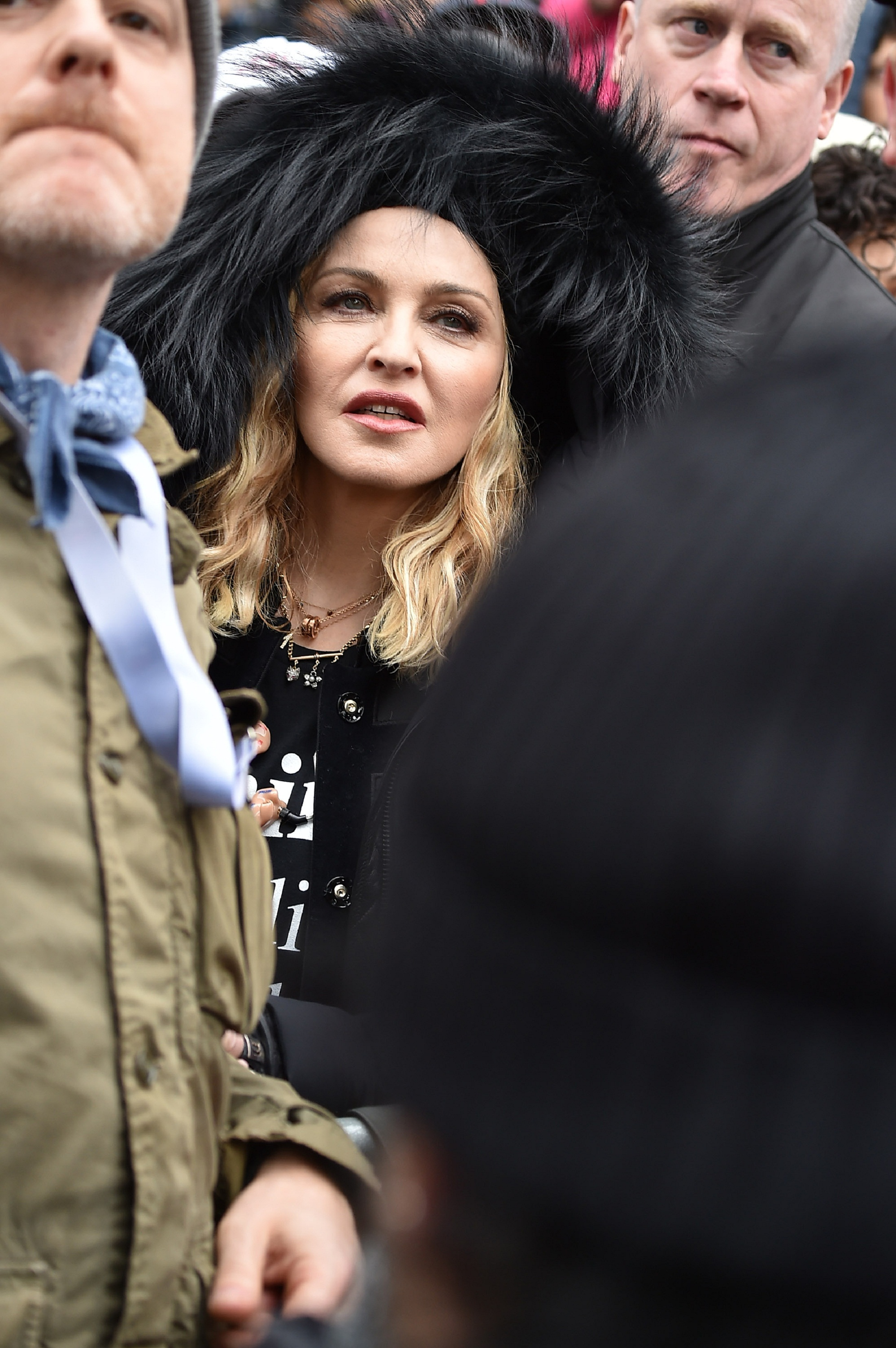 WASHINGTON, DC - JANUARY 21: Madonna attends the Women's March on Washington on January 21, 2017 in Washington, DC.   Theo Wargo/Getty Images/AFP