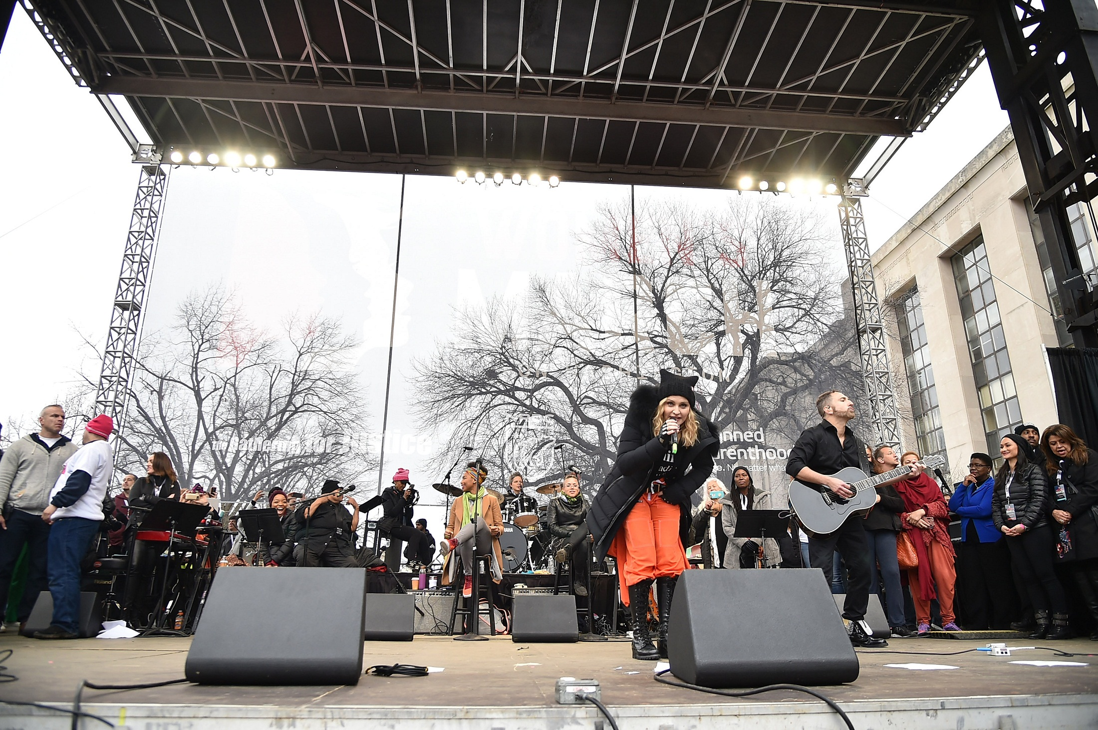 WASHINGTON, DC - JANUARY 21: Madonna performs onstage during the Women's March on Washington on January 21, 2017 in Washington, DC.   Theo Wargo/Getty Images/AFP