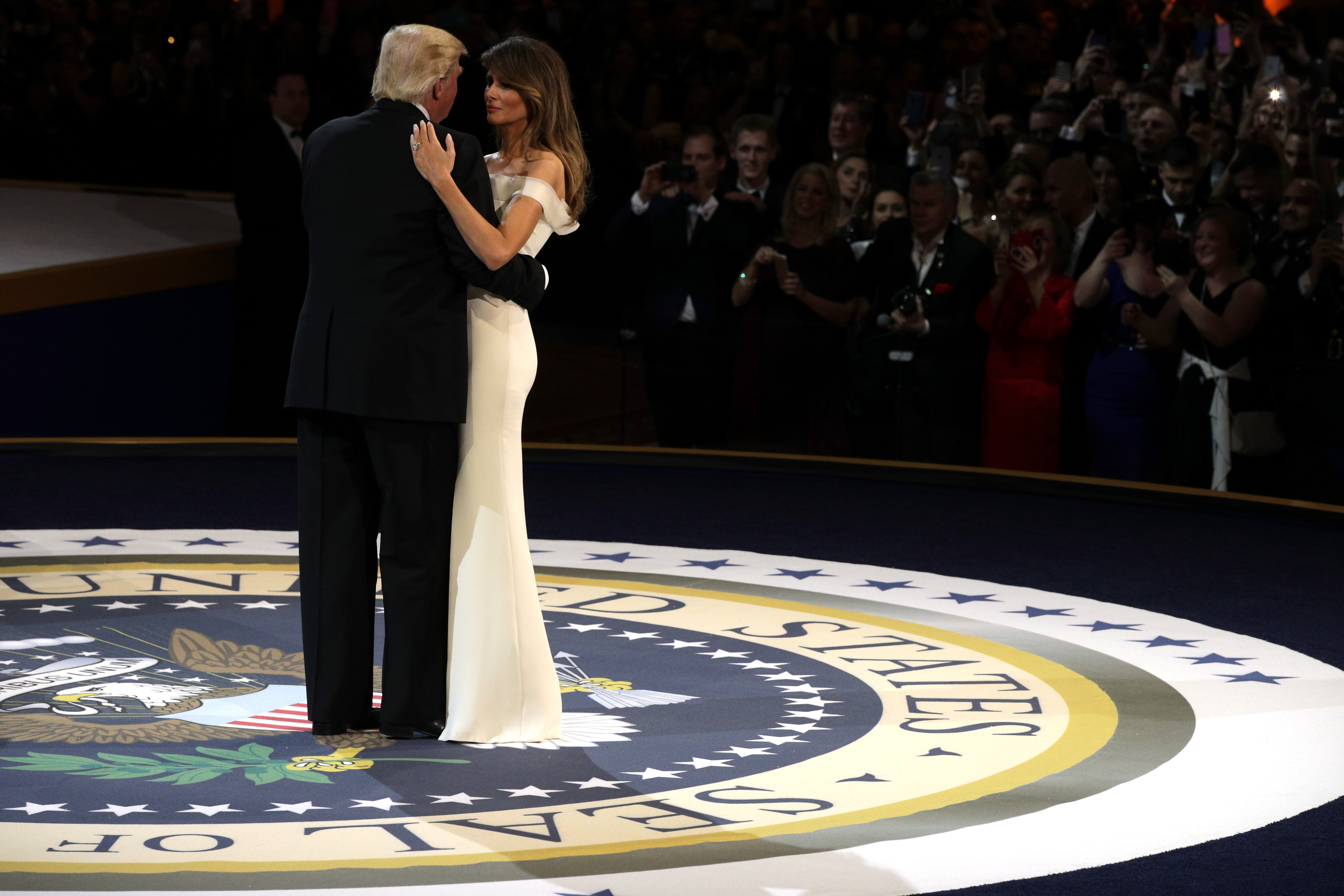 President Donald Trump Attends A Salute To Our Armed Services Ball