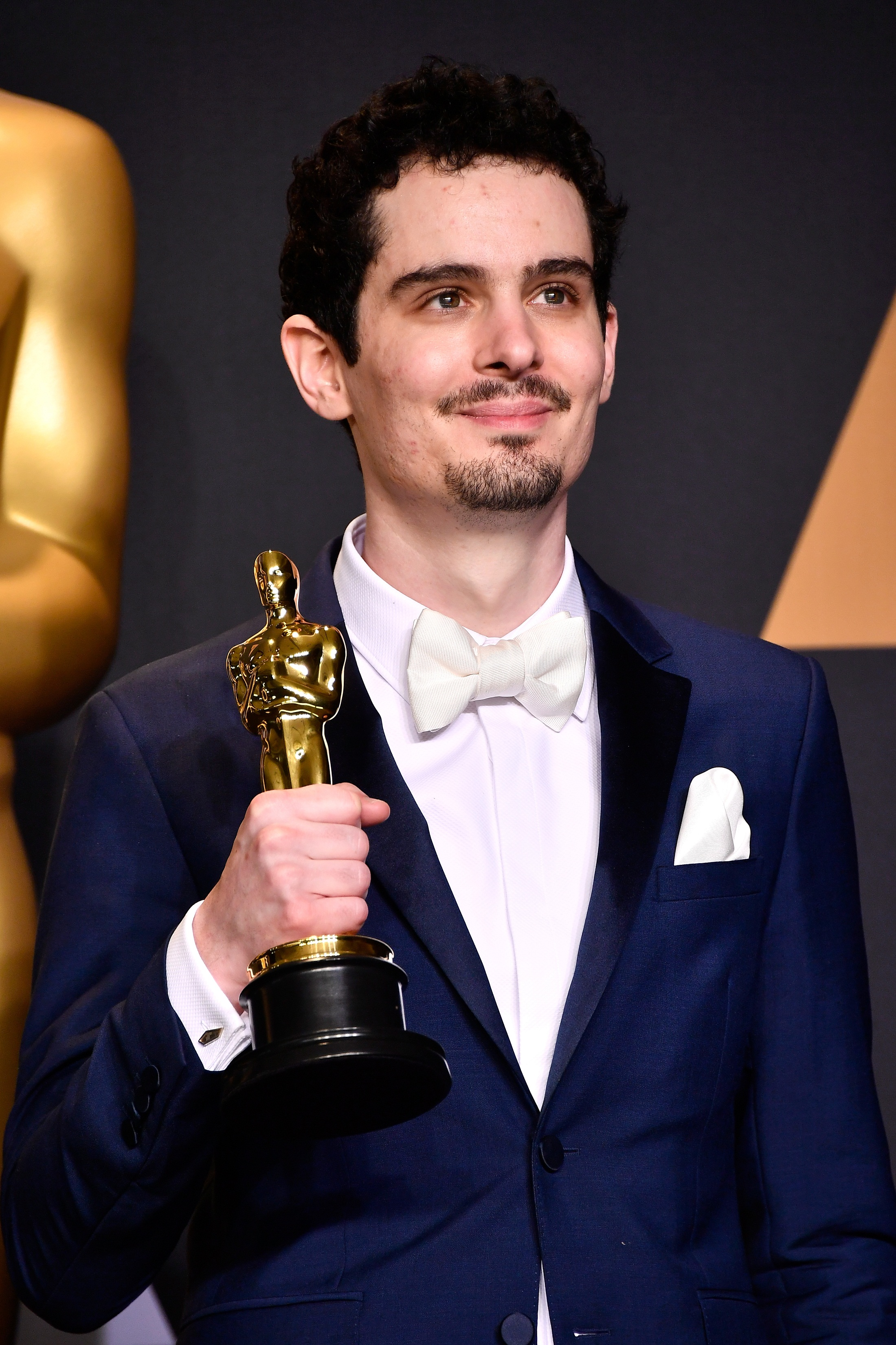 HOLLYWOOD, CA - FEBRUARY 26: Director Damien Chazelle, winner of Best Director for 'La La Land' poses in the press room during the 89th Annual Academy Awards at Hollywood & Highland Center on February 26, 2017 in Hollywood, California. Frazer Harrison/Getty Images/AFP